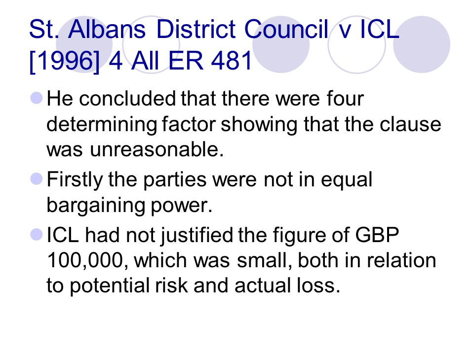 St. Albans District Council v ICL [1996] 4 All ER 481